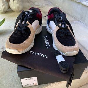 Chanel Suede Sneaker